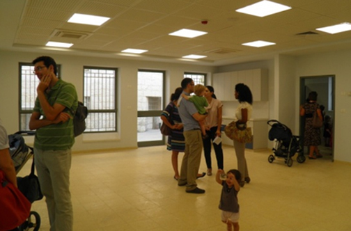 Inside the new preschool at Mevakshei Derech