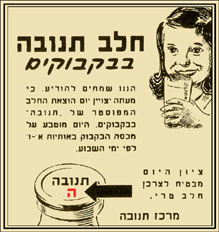 ההיסטוריה של החלב בארץ ישראל