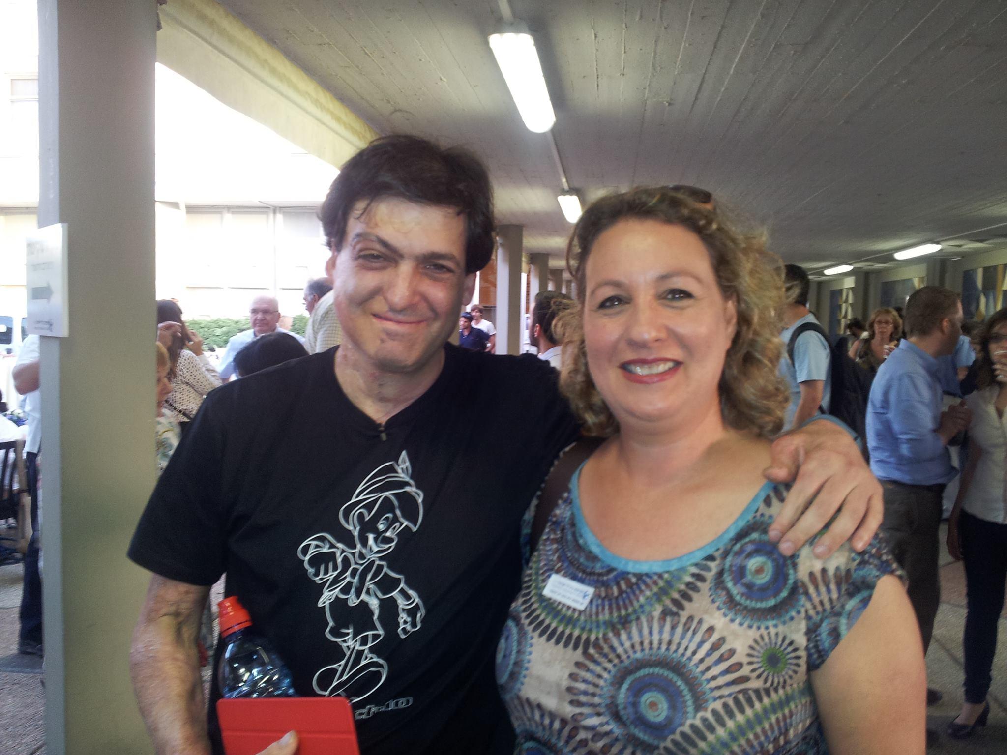 אני ודן אריאלי בטקס מגן השקיפות באוניברסיטת תל אביב
